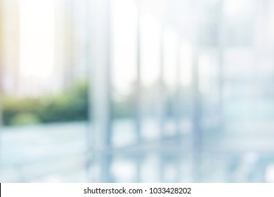 Blurred abstract  grey glass wall from building background.