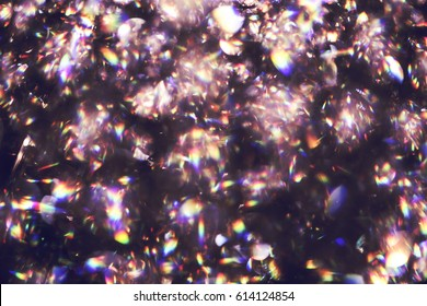 Blurred abstract light of luxury lamp at night for party or celebration background