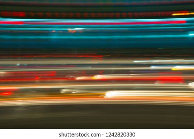 Blurred abstract night light background.