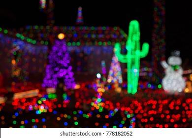 Blurred Arizona Christmas Lights