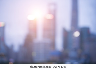 Blurred backgroud of Shanghai building in the morning