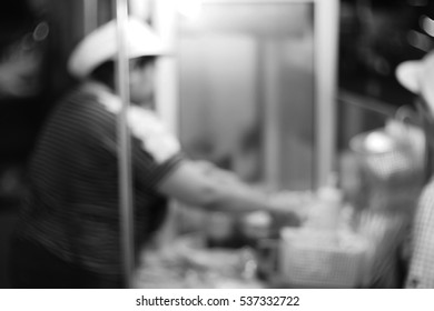 Blurred  background abstract and can be illustration to article of female chef