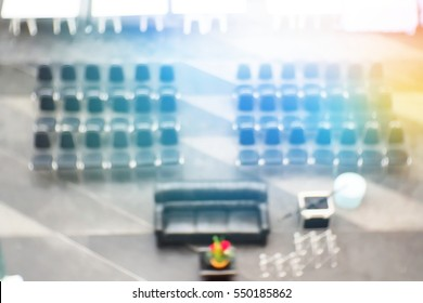Blurred  background abstract and can be illustration to article of Sofas and chairs for meetings
