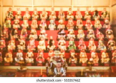 Blurred  background abstract and can be illustration to article of Chinese god statue