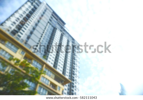 Blurred  background abstract and can be illustration to article of Office Building