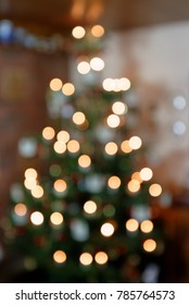 Blurred Background Abstract Christmas Tree I