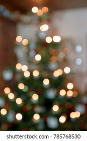 Blurred Background Abstract Christmas Tree II