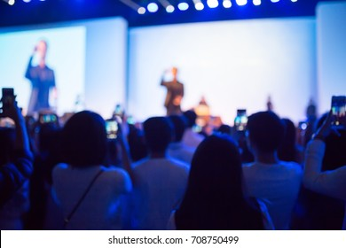 Blurred background abstract singer on stage