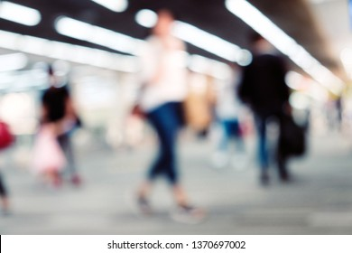 Blurred Background of Airport Departure Terminal
