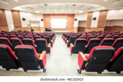 Blurred background of auditorium