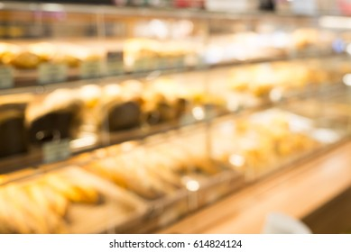Blurred background bakery shop.