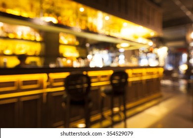 blurred background of bar