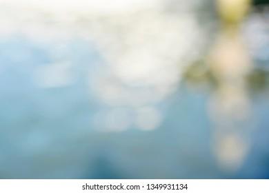 blurred background, blue water