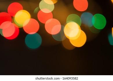 blurred background bokeh, Bokeh from garland