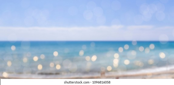 Blurred background with bokeh. Summer background