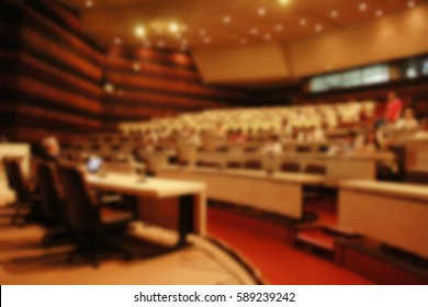 blurred for background Business or Education people meeting presentation conference in meeting room.