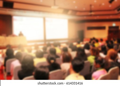 Blurred background, business Meeting Conference Training Learning Coaching Concept.