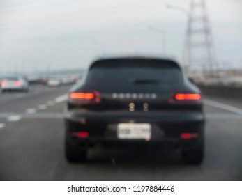 Blurred background of the car