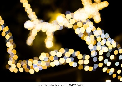 Blurred Background: Christmas Lights Blurred with Bokeh