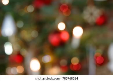 Blurred Background Christmas Tree Decoration II