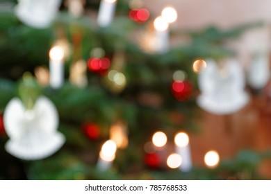 Blurred Background Christmas Tree Decoration I