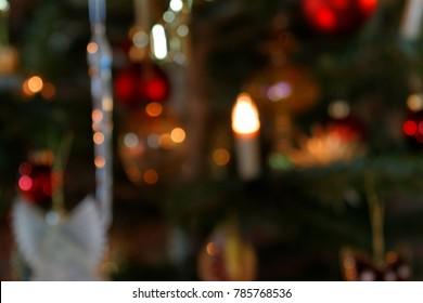 Blurred Background Christmas Tree Decoration III