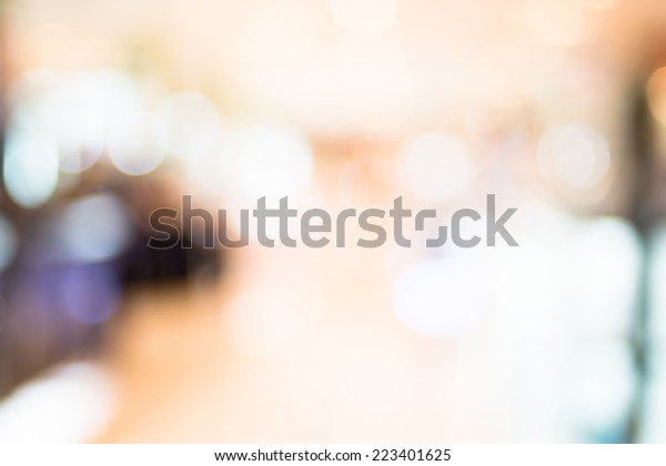 Blurred background : Colorful store blur background with bokeh