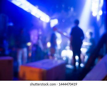 Blurred background of the concert in a nightclub