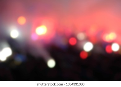 Blurred background of crowd of people at the stadium