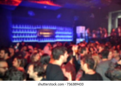 Blurred background of a crowded concert