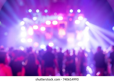 Blurred background of Entertainment Concert
