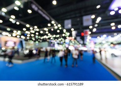 Blurred background of event exhibition show public hall, business trade concept