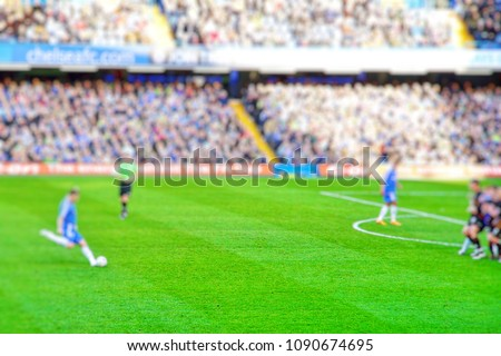 Blurred background of football