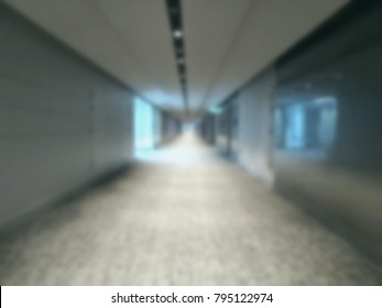 blurred background of future walk way, sci-fi, technology building.