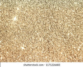 Blurred background with gold glitter in vintage colors