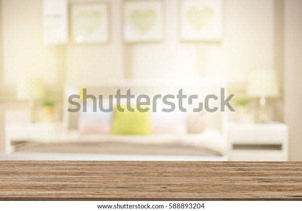blurred background of home Bedroom