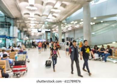 Blurred background : inside of the airport