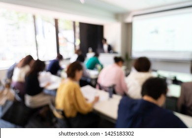 blurred background in meeting room