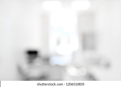 Blurred background of modern operating room at medical hospital interior with the anesthesiology machine equipment and medical devices in modern operating emergency room