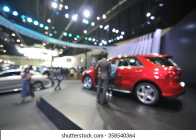 blurred background - motor show