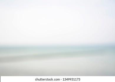 blurred background, ocean and horizon