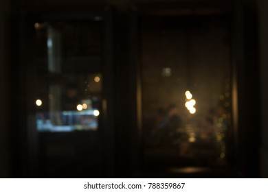 blurred background on the bar or coffee shop