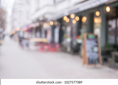 Blurred background of outdoor cafes