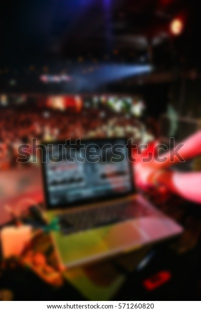 Blurred Background Party Dj Mix Digital Stock Photo (Edit