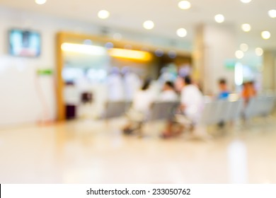 Blurred background : Patient waiting for see doctor,abstract background