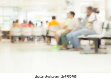 Blurred background Patient waiting for see doctor, abstract background