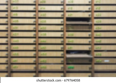 Blurred background post box or mail box