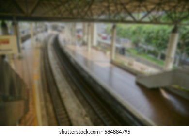 Blurred background of railway station.