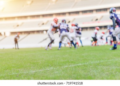 Blurred background of rugby players fighting, Outdoor sport