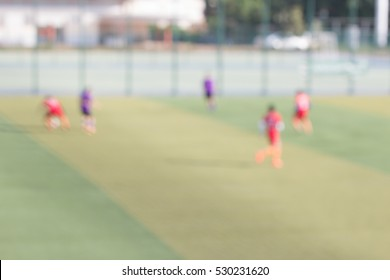 blurred background of soccer football